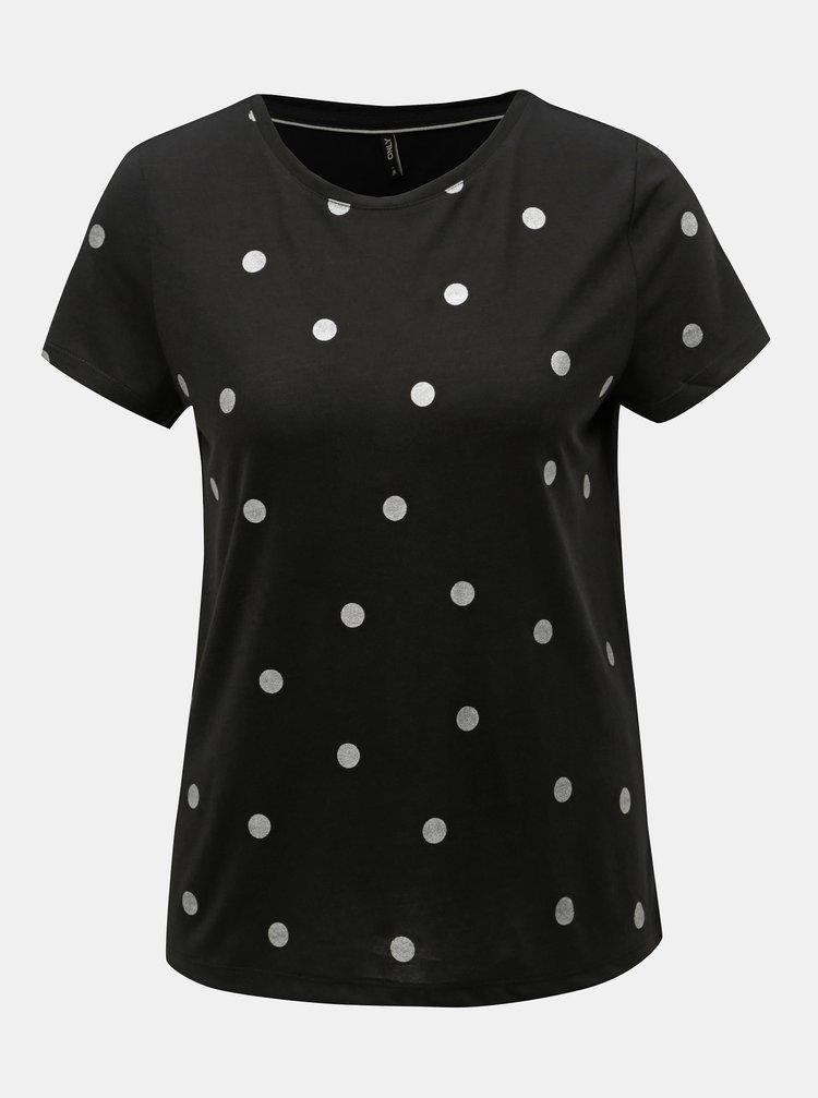 Tricou negru cu buline ONLY Isabella