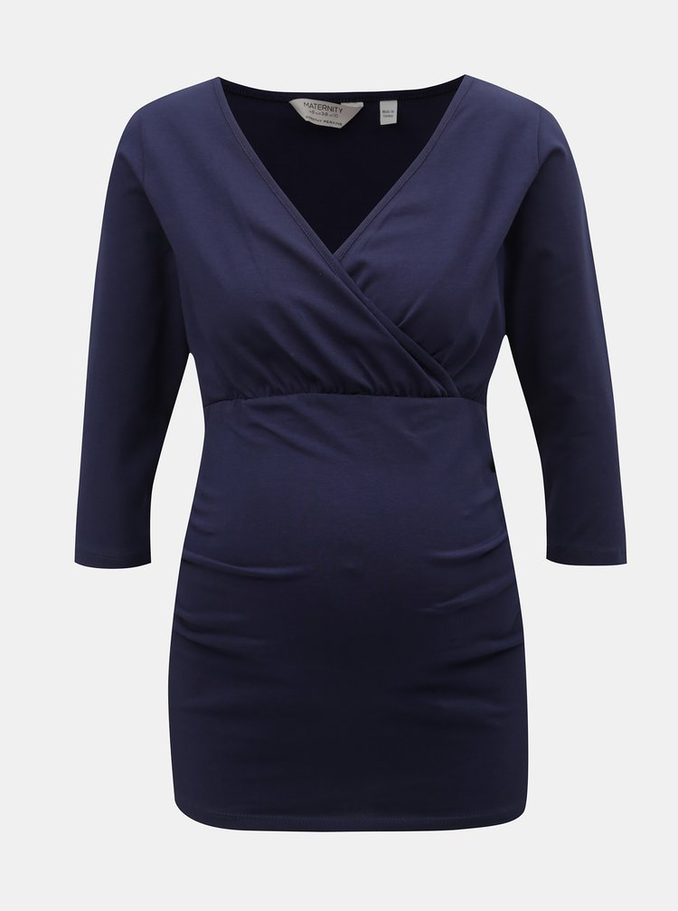 Tmavě modré těhotenské/kojicí tričko Dorothy Perkins Maternity