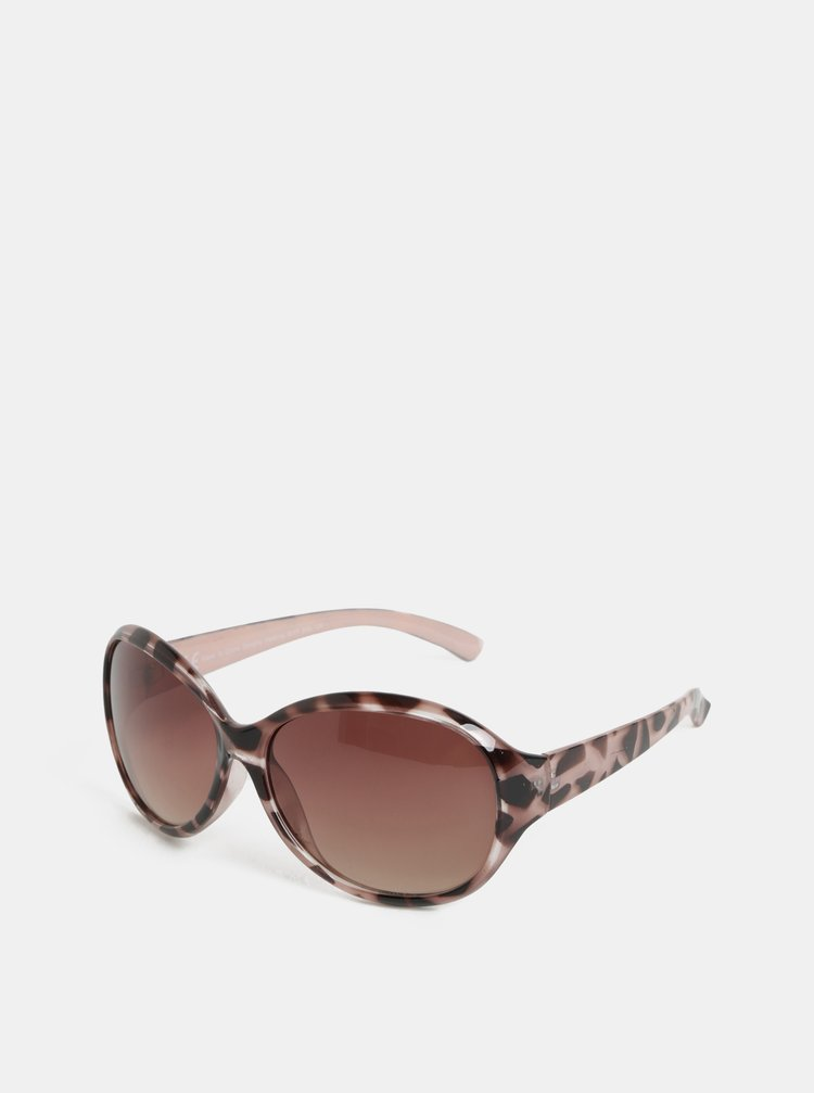 Ochelari de soare negru-roz cu motiv ghepard Dorothy Perkins