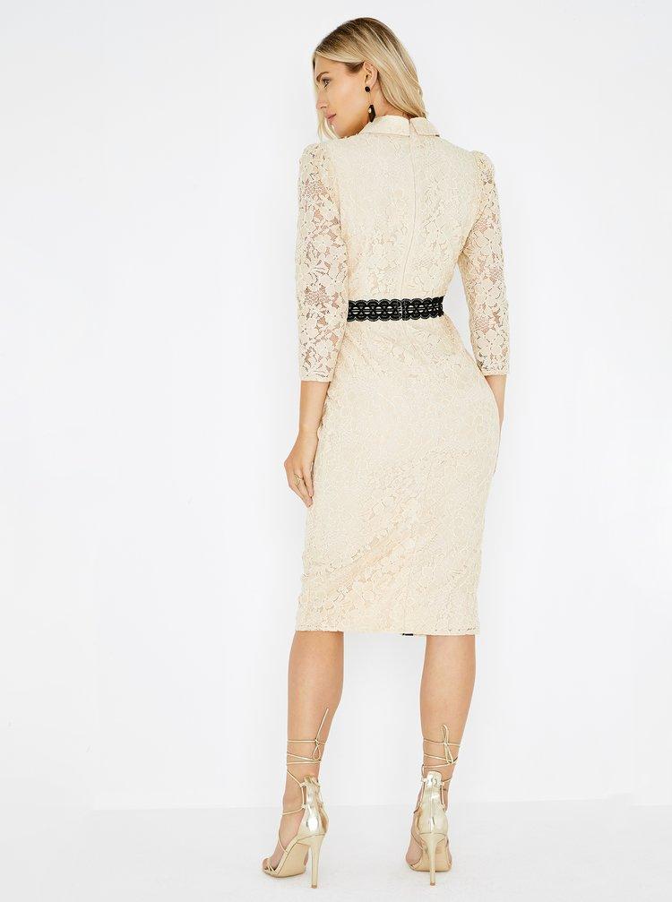 Béžové čipkované šaty Little Mistress · Béžové čipkované šaty Little  Mistress 0e5ab23a7ba