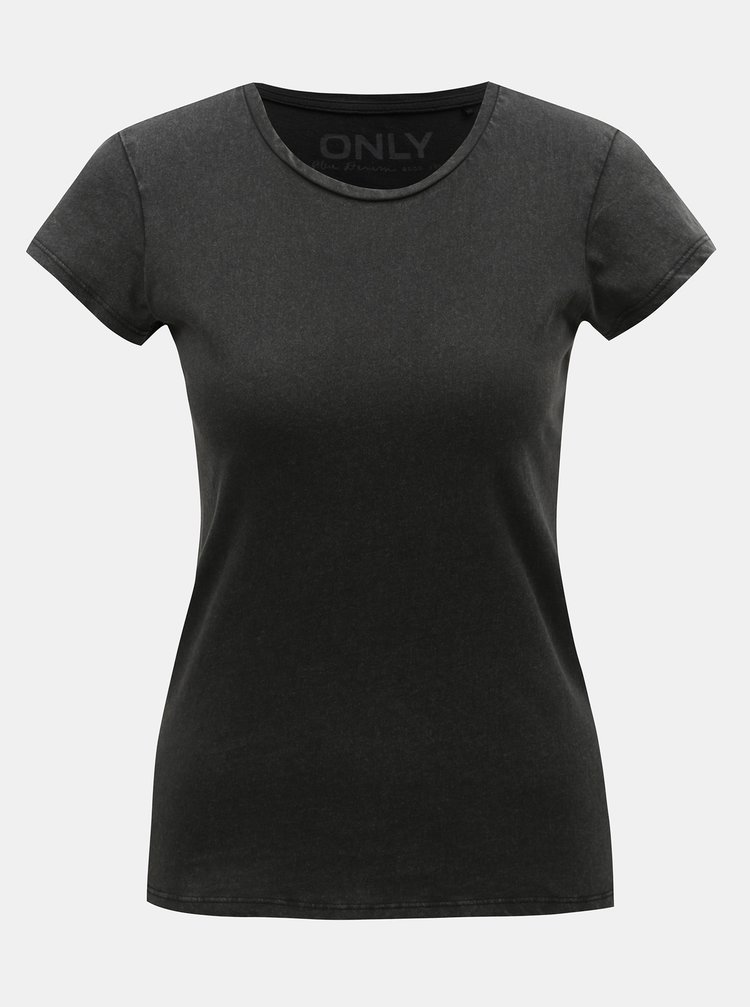 Tricou basic gri inchis ONLY Cate