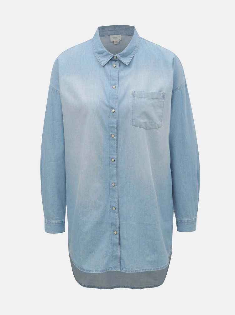 Světle modrá dlouhá džínová košile Jacqueline de Yong Ib