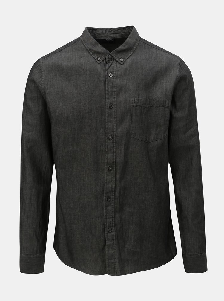 Camasa gri inchis Burton Menswear London