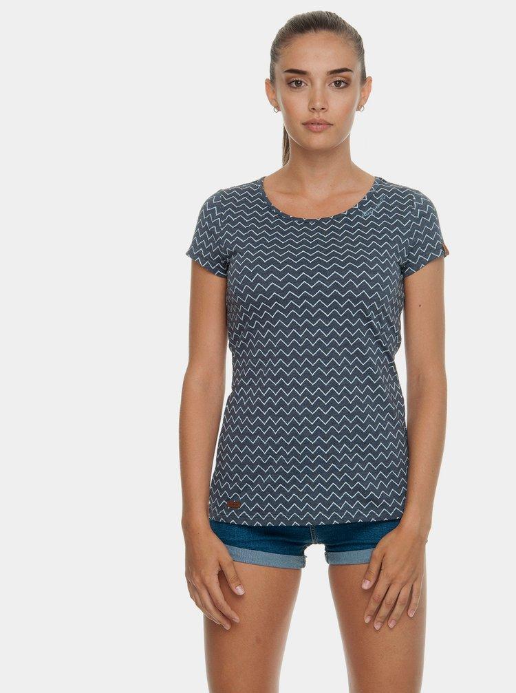 Tricou albastru de dama cu model Ragwear Mint