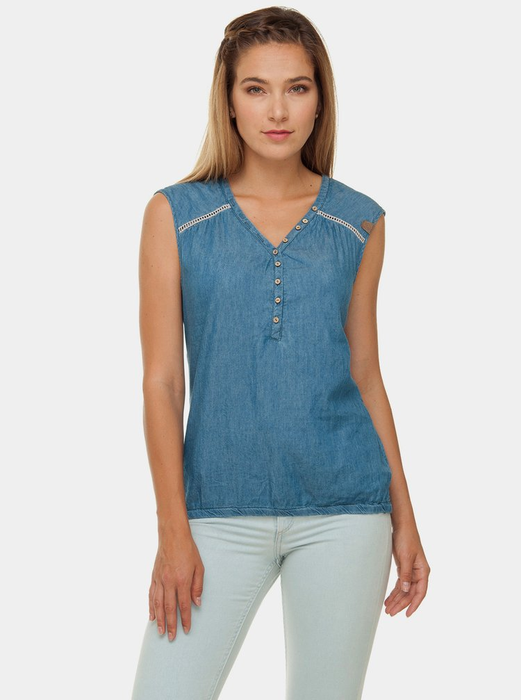 Modrý top Ragwear Salty Denim