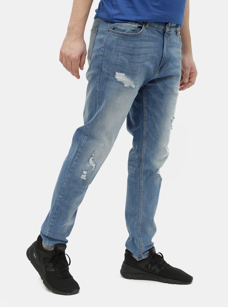Blugi albastri tapered fit Burton Menswear London