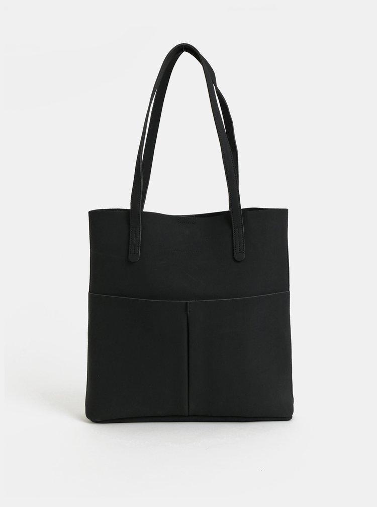Geanta neagra pentru shopping cu portofel Claudia Canova Adella