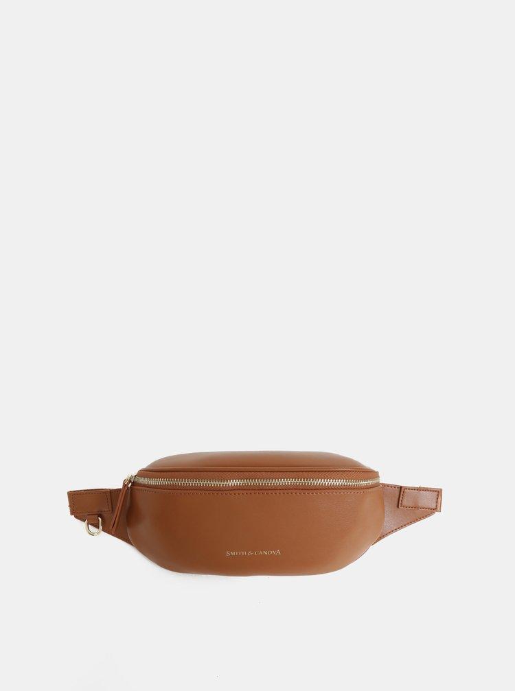 Hnědá kožená ledvinka Smith & Canova Mapel