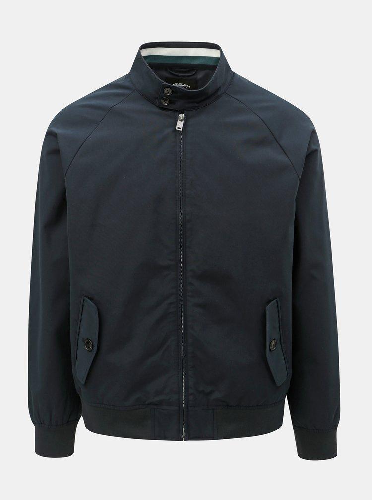 Jacheta albastru inchis lejera Burton Menswear London