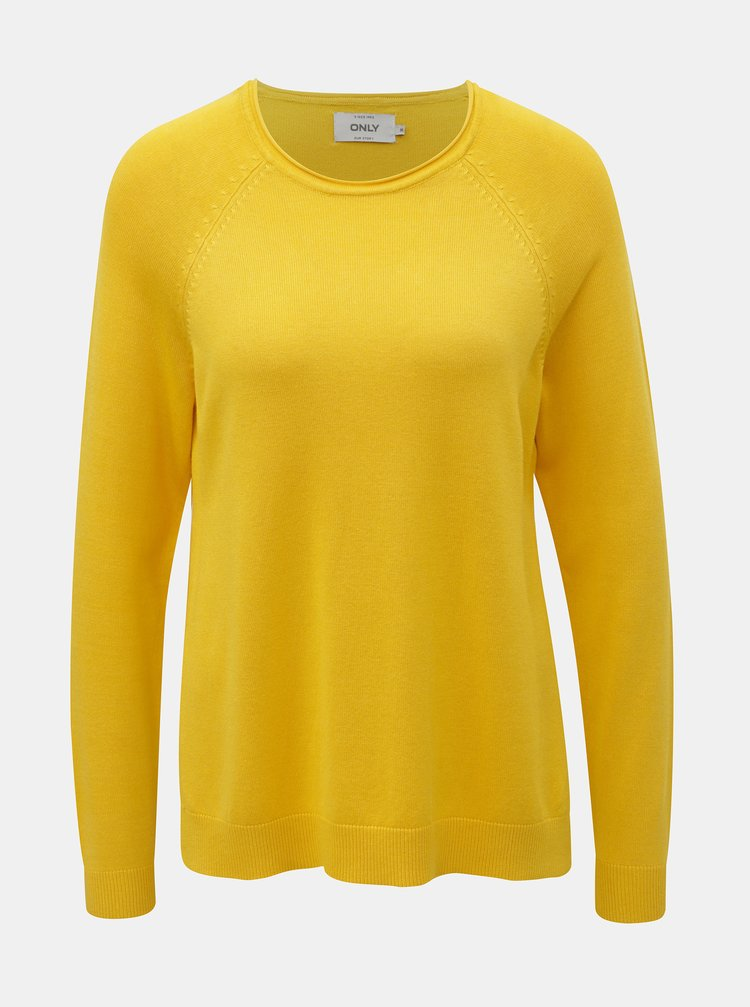 Žlutý svetr s rozparky ONLY New