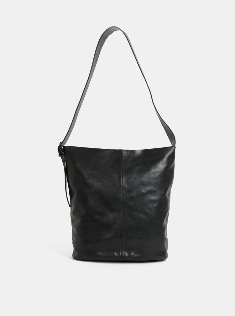 Černá kožená kabelka Vagabond Stockholm