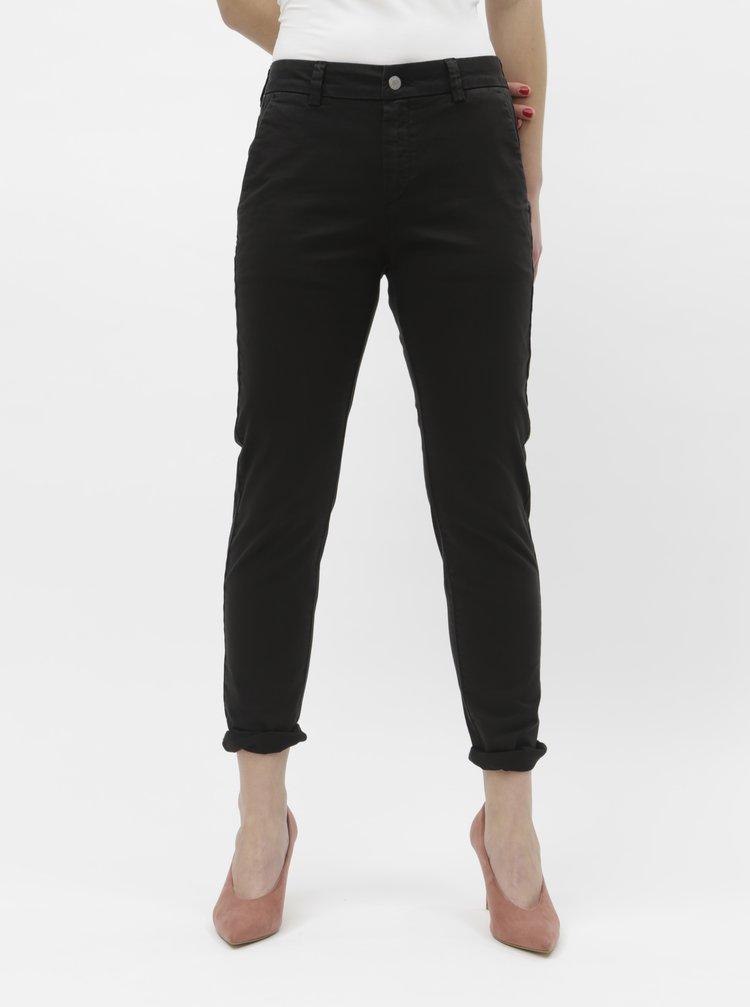 Pantaloni negri chino Selected Femme Megan