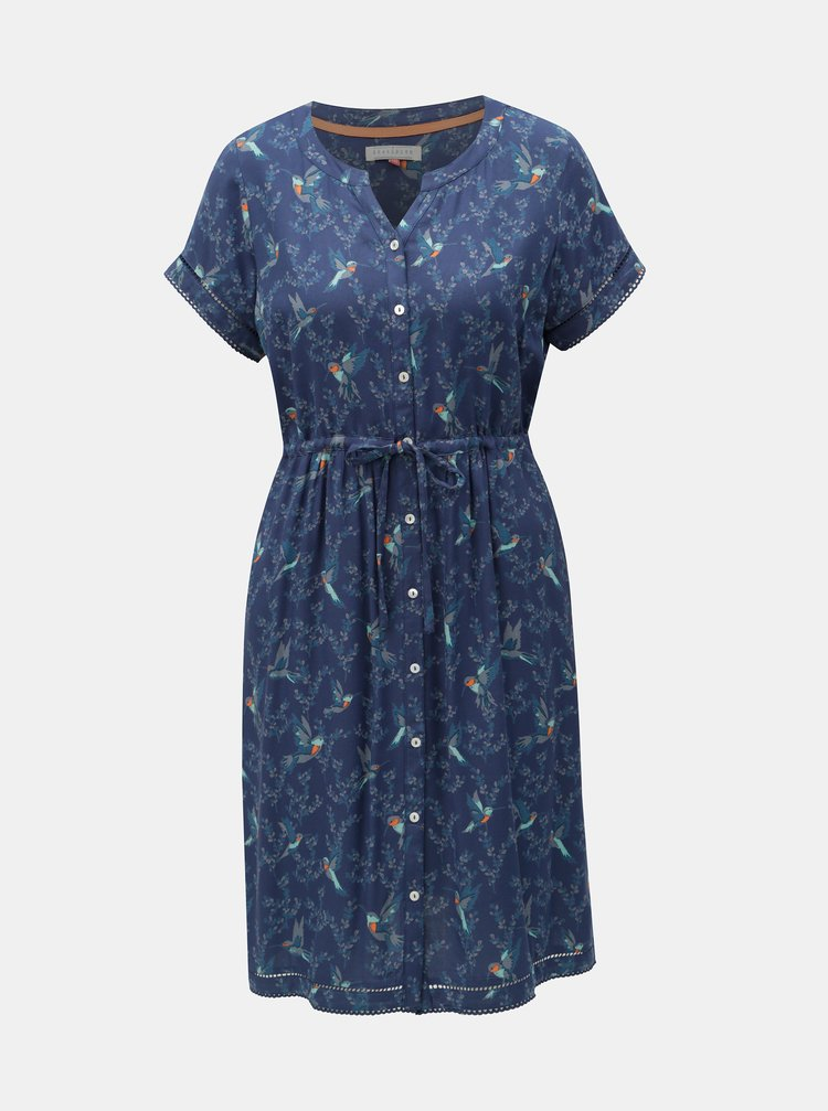 Tmavě modré vzorované šaty Brakeburn Hummingbird