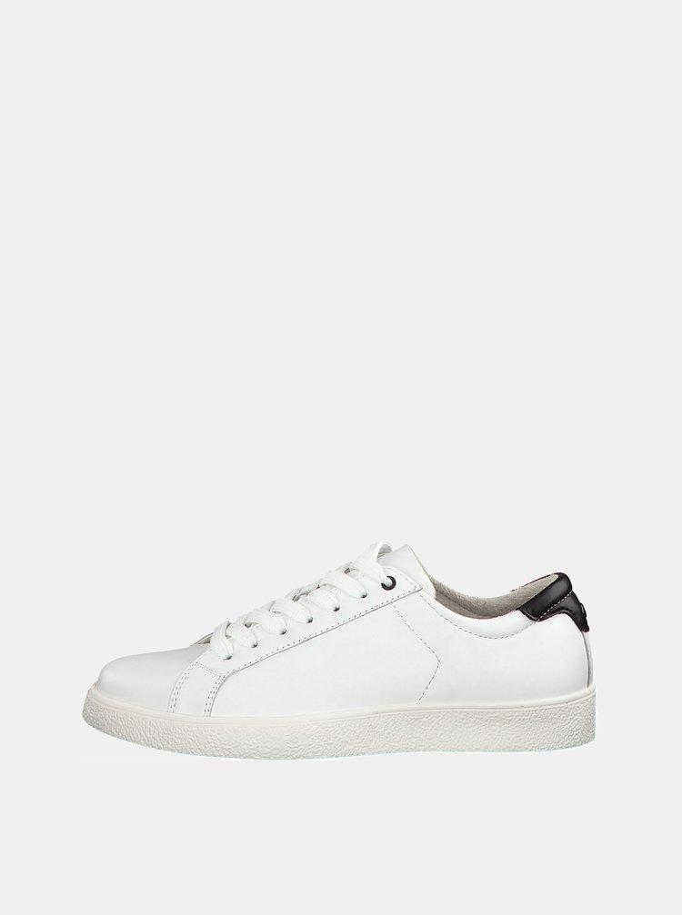 Bílé kožené tenisky Tamaris Rombo
