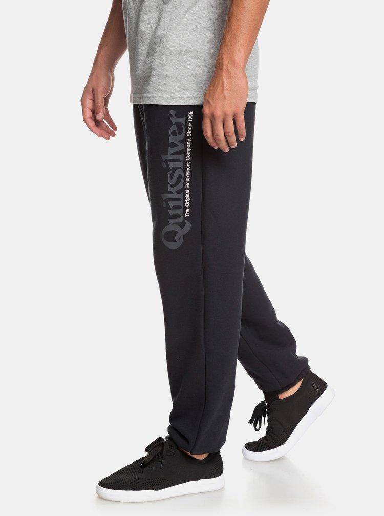 Pantaloni sport negri cu imprimeu Quiksilver