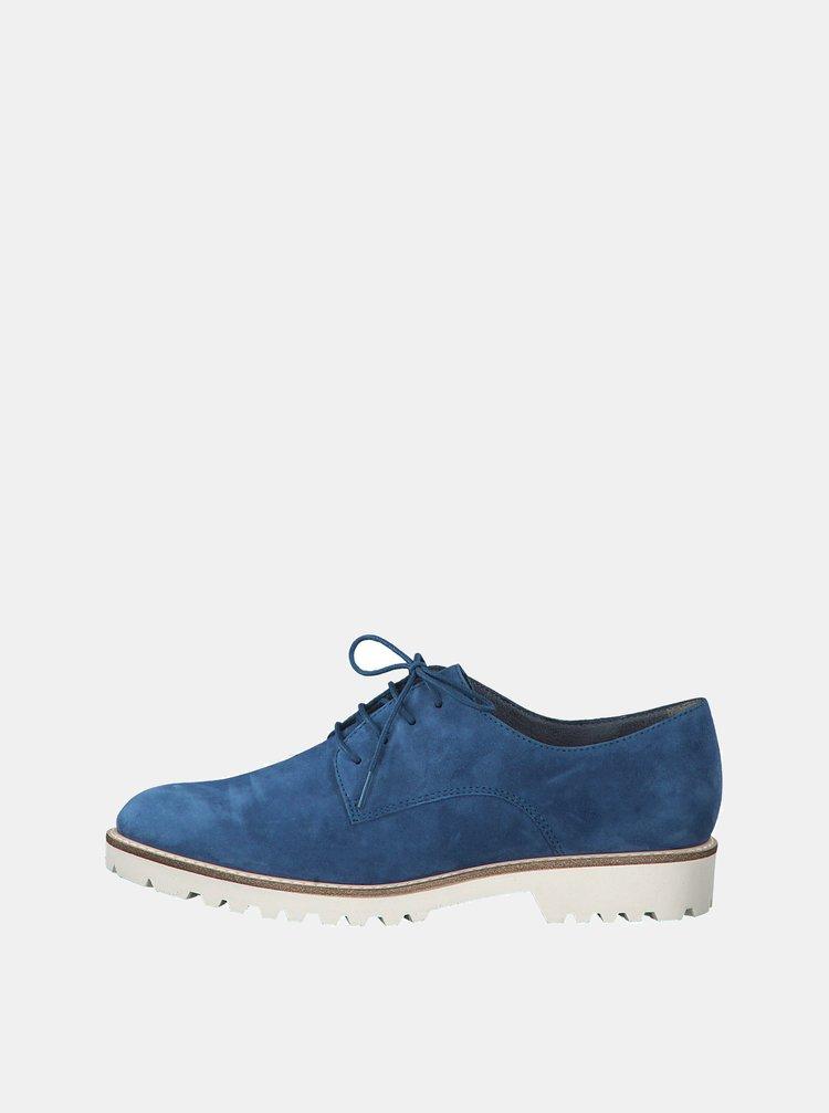 Pantofi albastri din piele intoarsa Tamaris Jenna