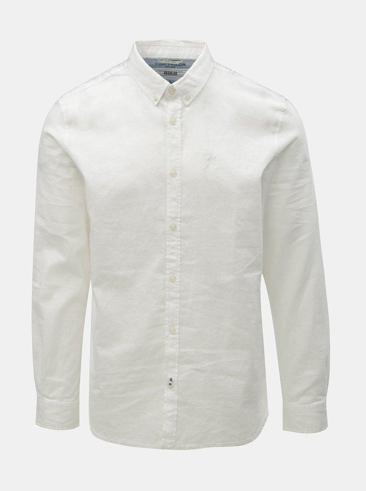Bílá pánská lněná košile Tom Tailor
