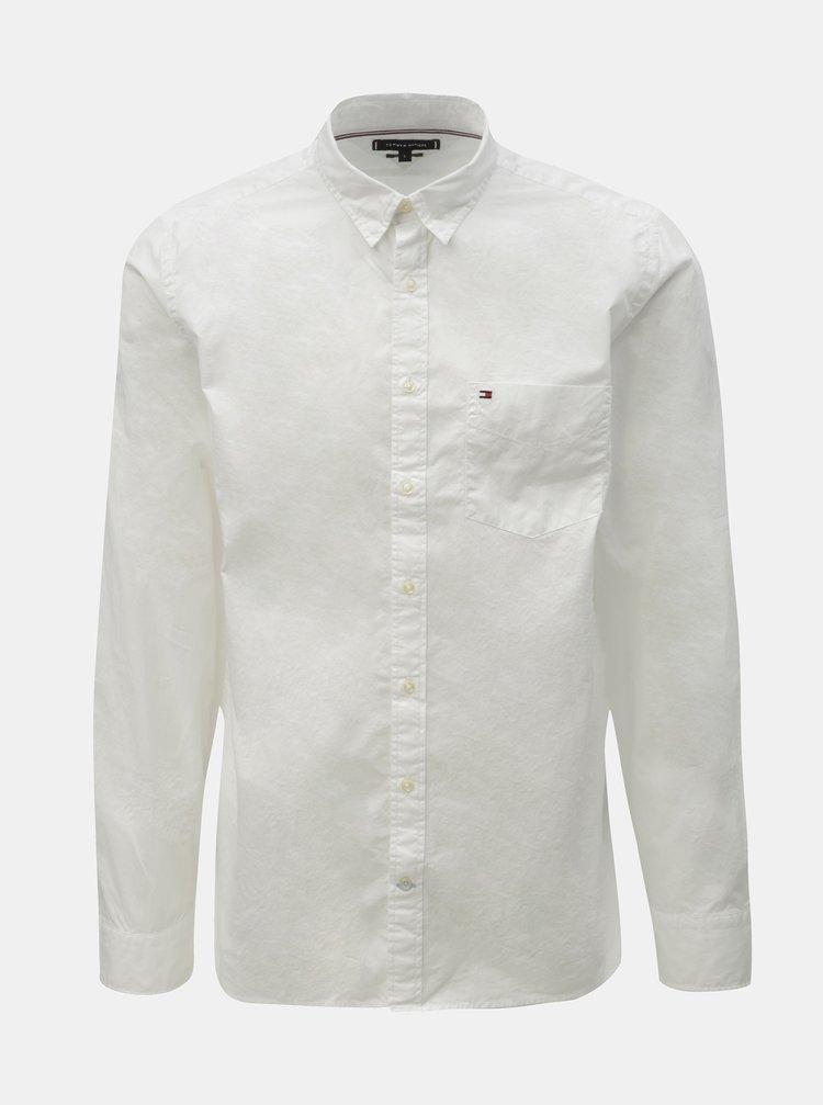 Bílá pánská regular fit košile s kapsou Tommy Hilfiger