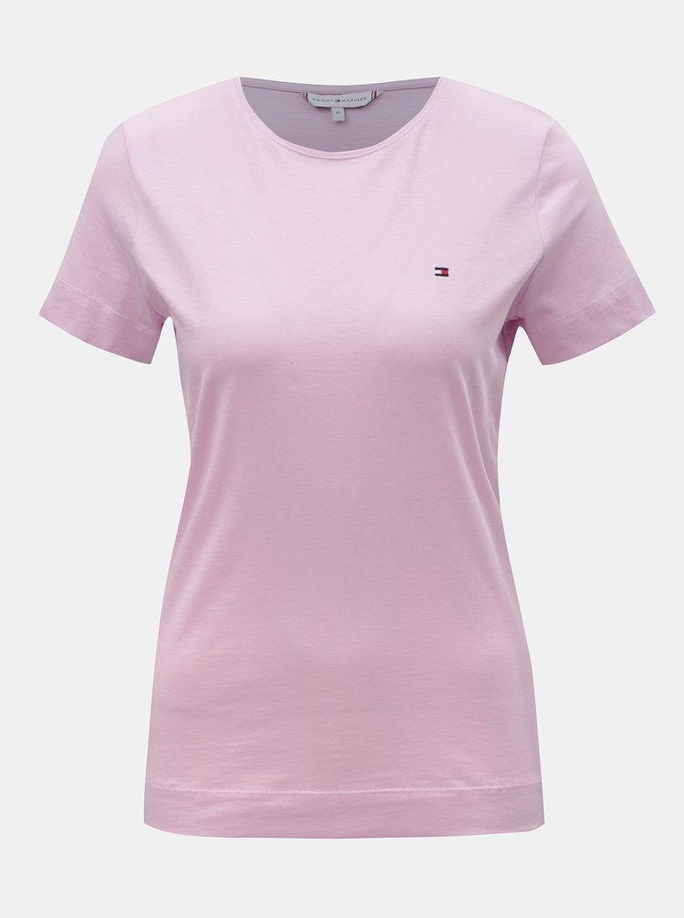 Ružové dámske basic tričko Tommy Hilfiger Tessa