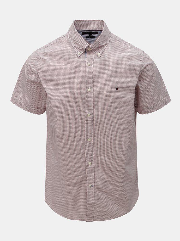 Svetloružová vzorovaná slim fit košeľa Tommy Hilfiger