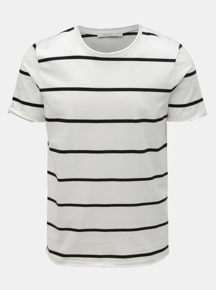 Tricou basic alb in dungi Jack & Jones Matrick