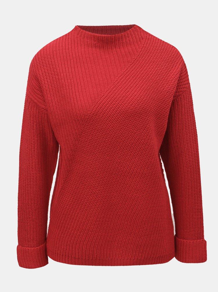 Červený svetr se stojáčkem Dorothy Perkins Petite