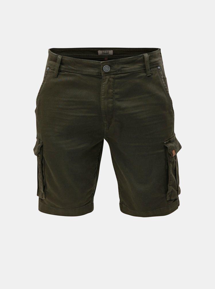 Pantaloni scurti verde inchis slim fit cu buzunare Blend
