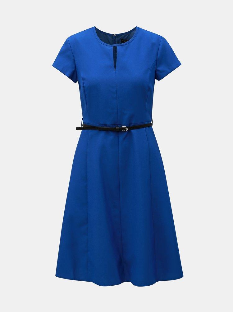 Modré šaty s opaskom Dorothy Perkins