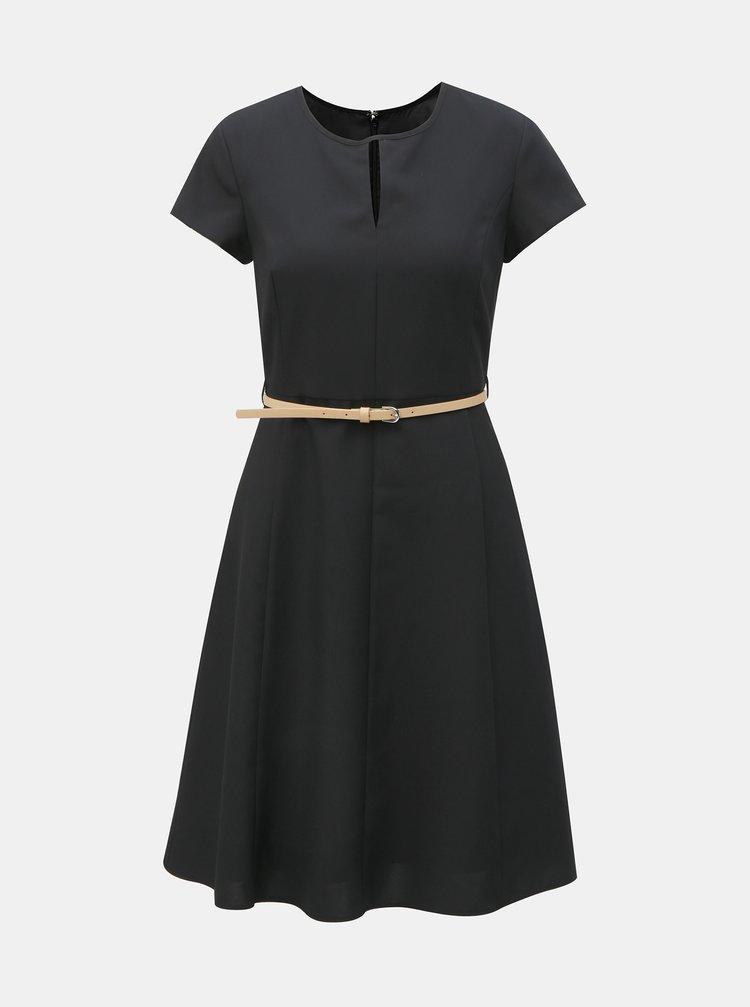 Čierne šaty s opaskom Dorothy Perkins