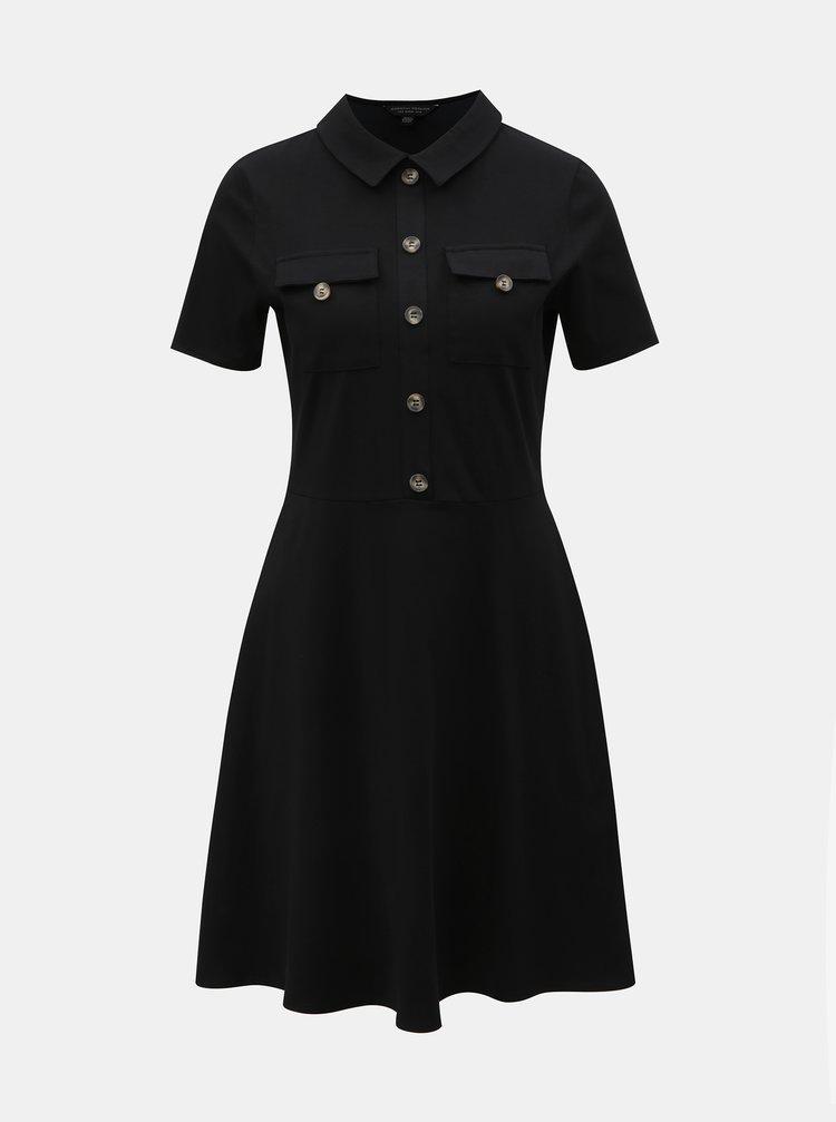 Černé košilové šaty Dorothy Perkins