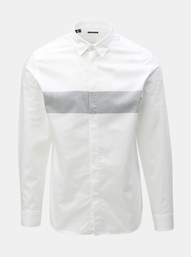 Camasa alba slim fit Selected Homme Block