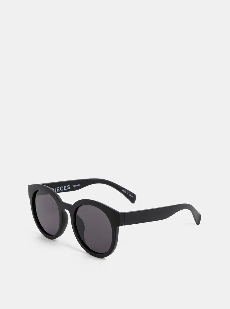 Ochelari de soare negri Pieces Stella