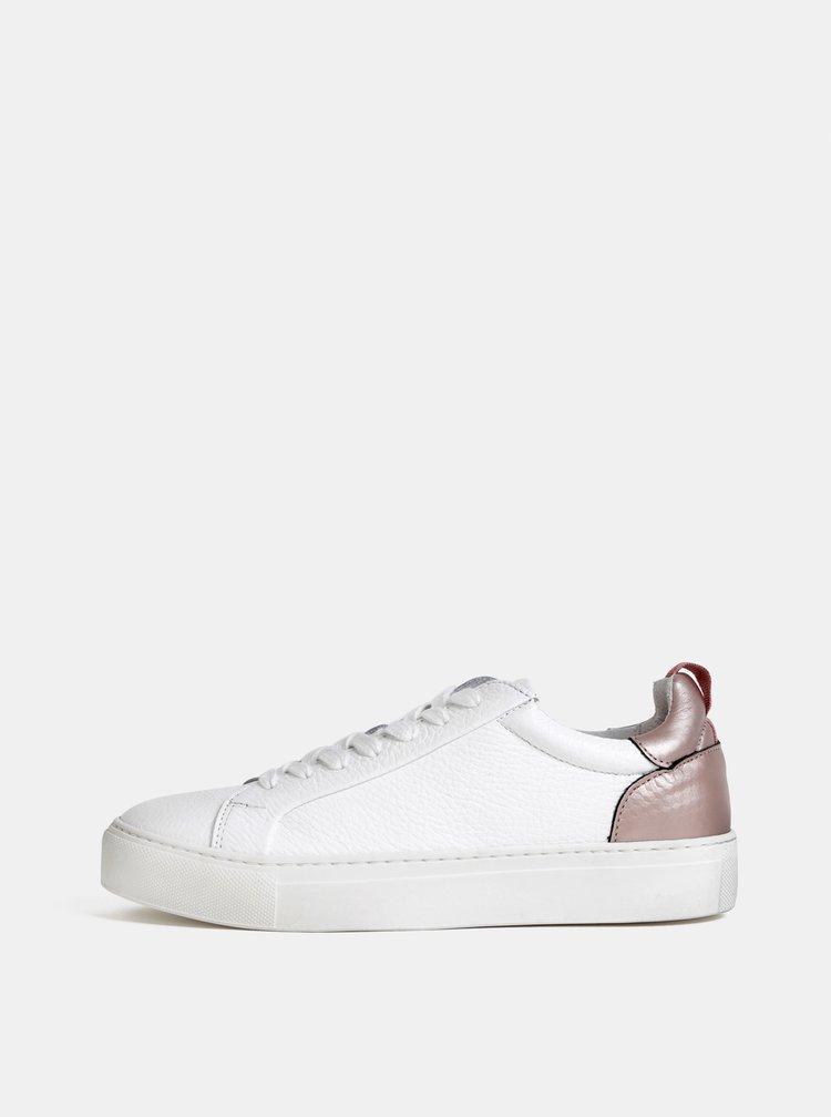 Pantofi sport albi din piele Selected Femme Donna