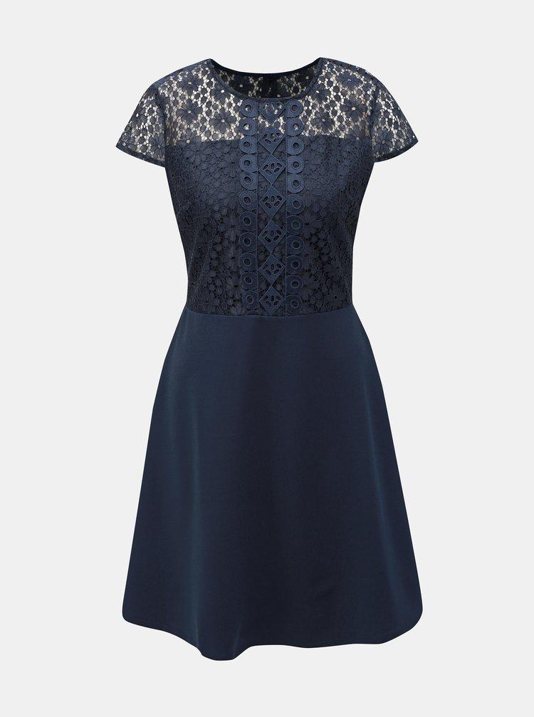 Tmavě modré šaty s krajkou Dorothy Perkins