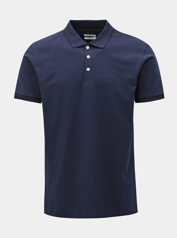 Tmavě modré basic polo tričko Lindbergh