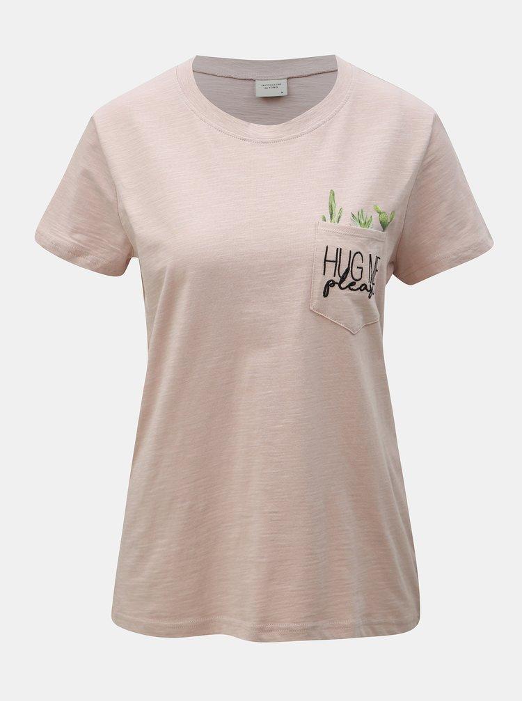 Staroružové tričko s vreckom Jacqueline de Yong Kid