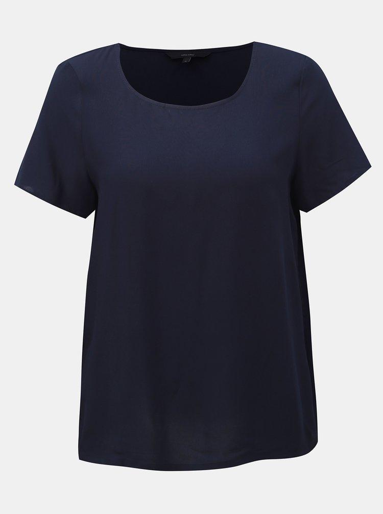 Tmavě modré basic tričko VERO MODA Simply