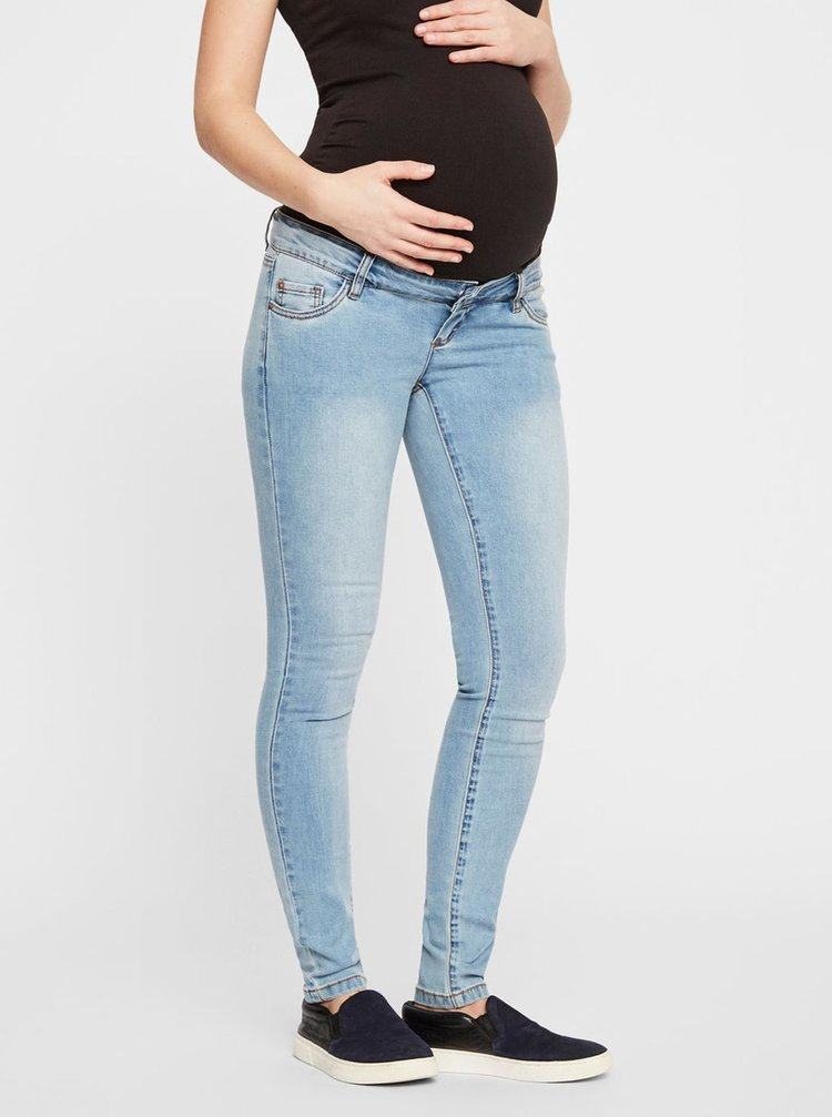 Světle modré těhotenské slim džíny Mama.licious Lola