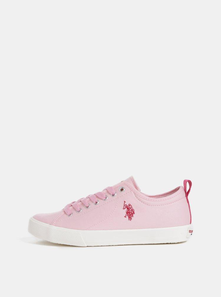 Ružové dámske tenisky U.S. Polo Assn.
