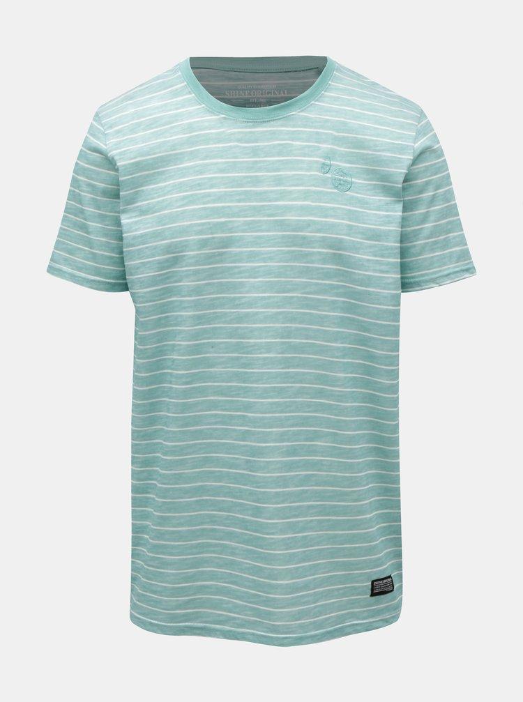 Zelené pruhované tričko Shine Original
