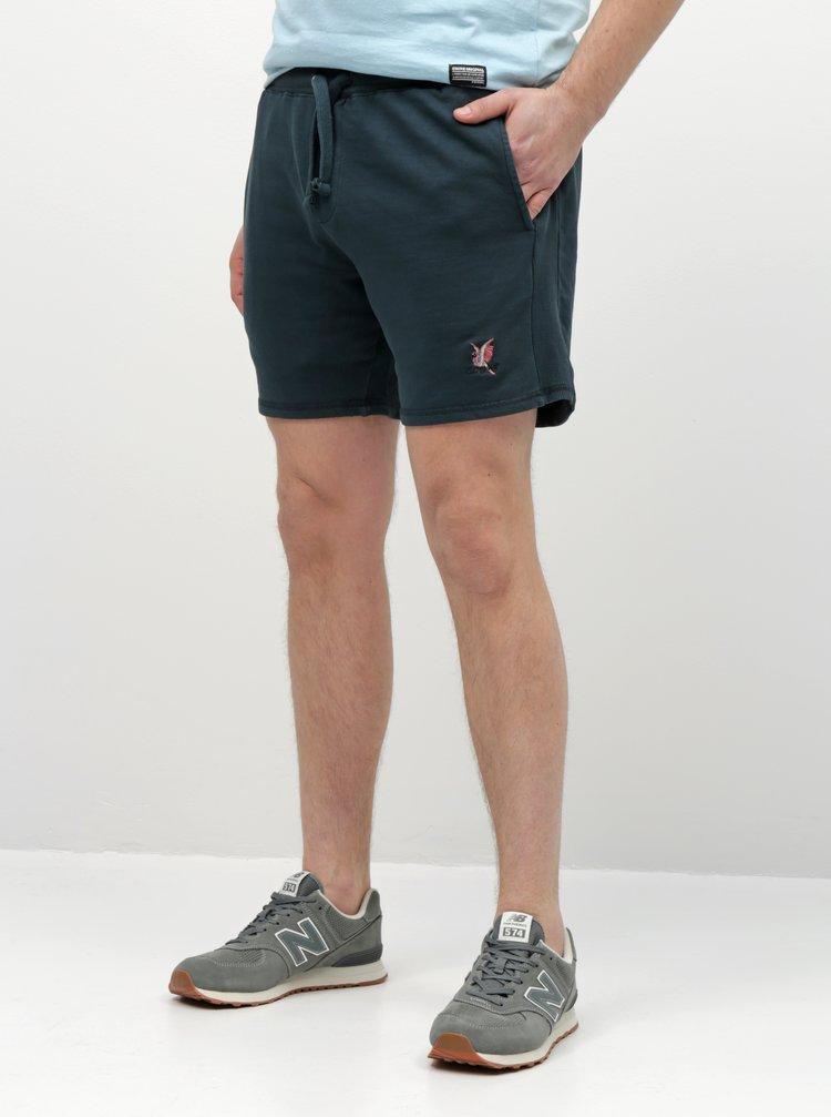 Pantaloni scurti sport albastru inchis Shine Original