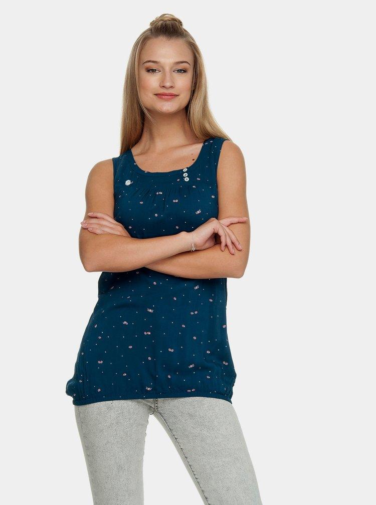 Tmavě modrý vzorovaný top Ragwear Giselle