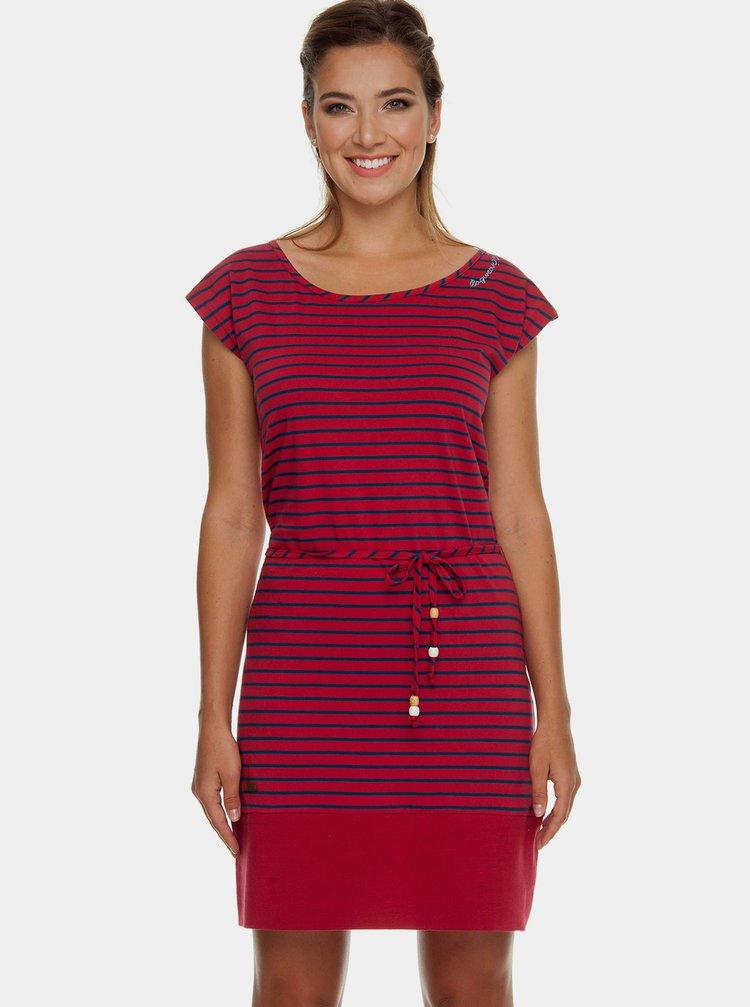 Červené pruhované šaty Ragwear Soho
