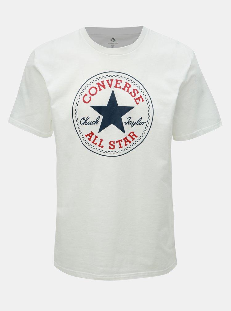 Tricou barbatesc alb cu imprimeu Converse