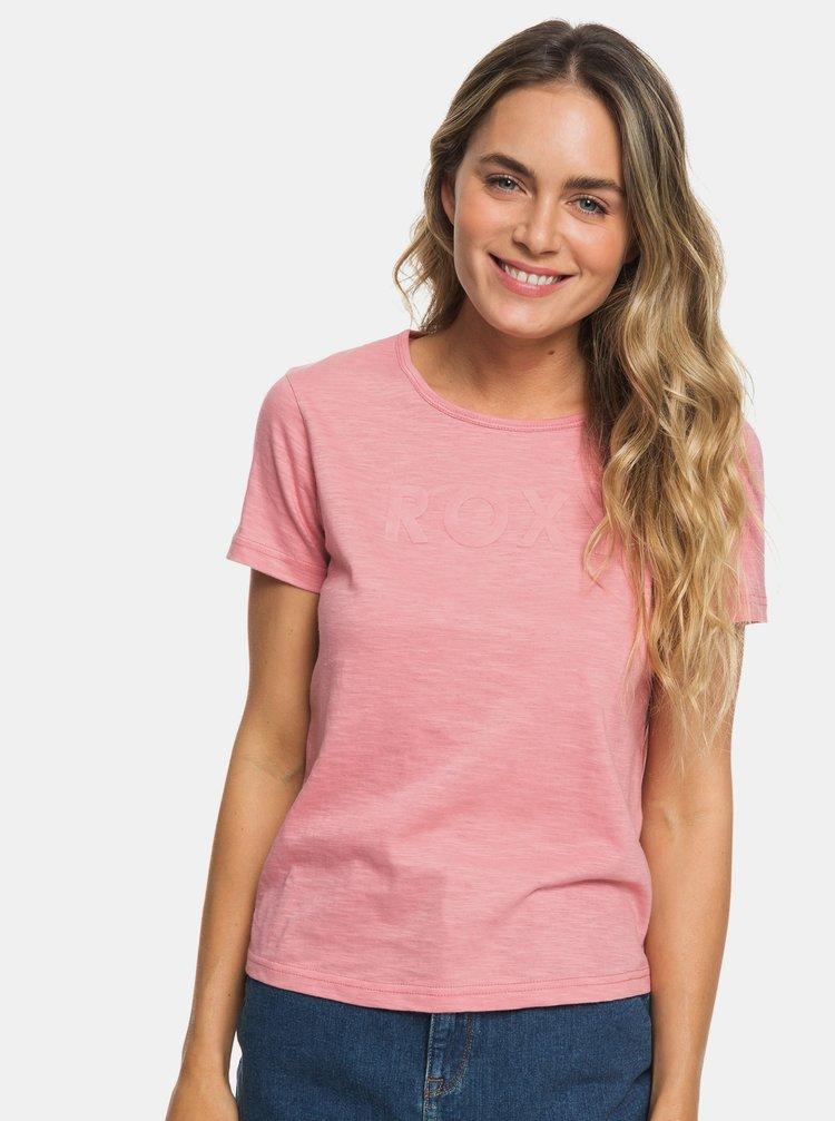 Růžové tričko Roxy Red Sunset