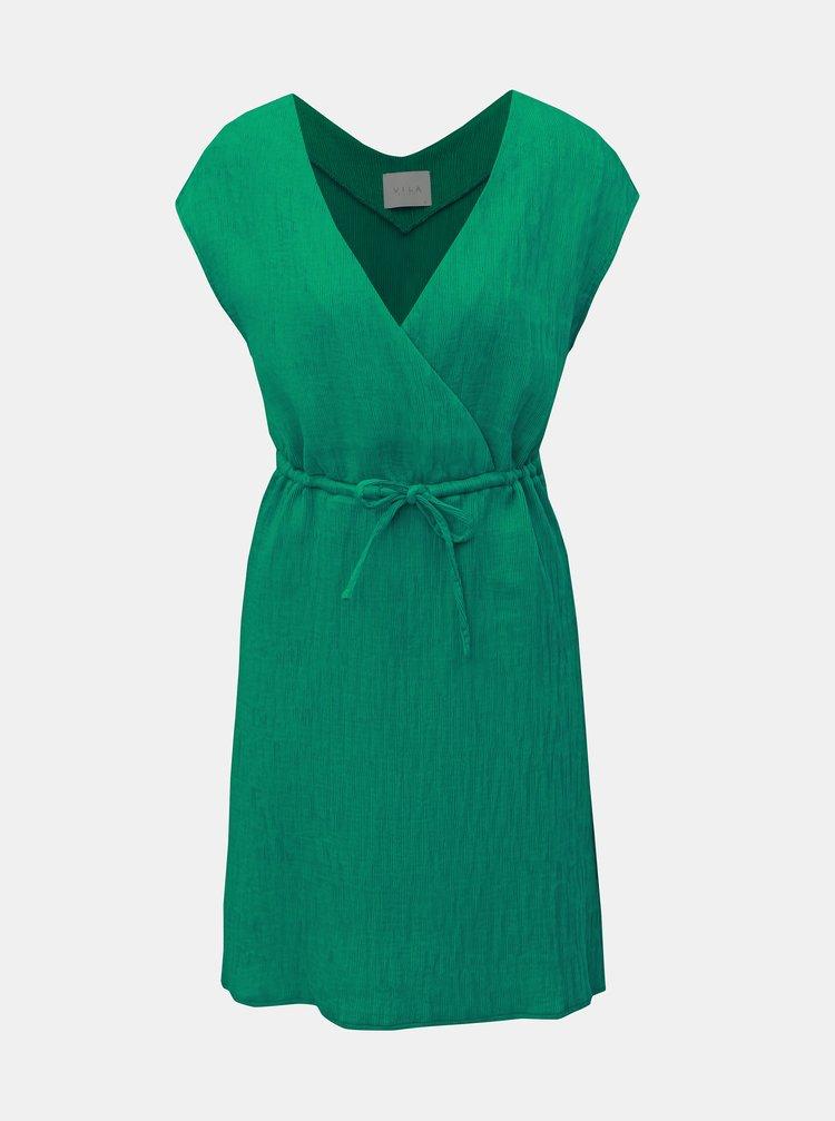 Zelené rebrované šaty VILA Chunny