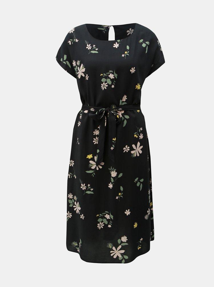 Černé květované šaty Jacqueline de Yong Star