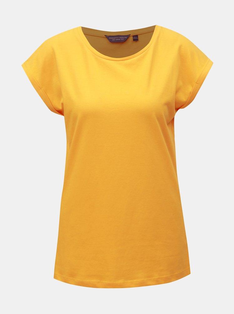 Žluté basic tričko Dorothy Perkins Tall