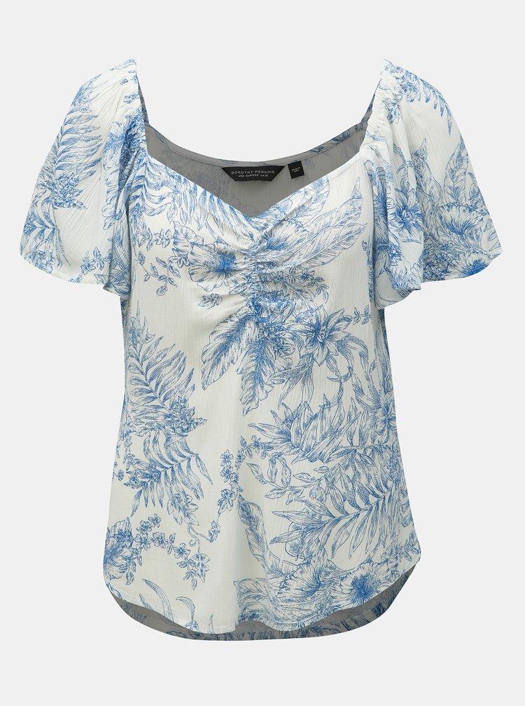 Modro–biela kvetovaná blúzka Dorothy Perkins