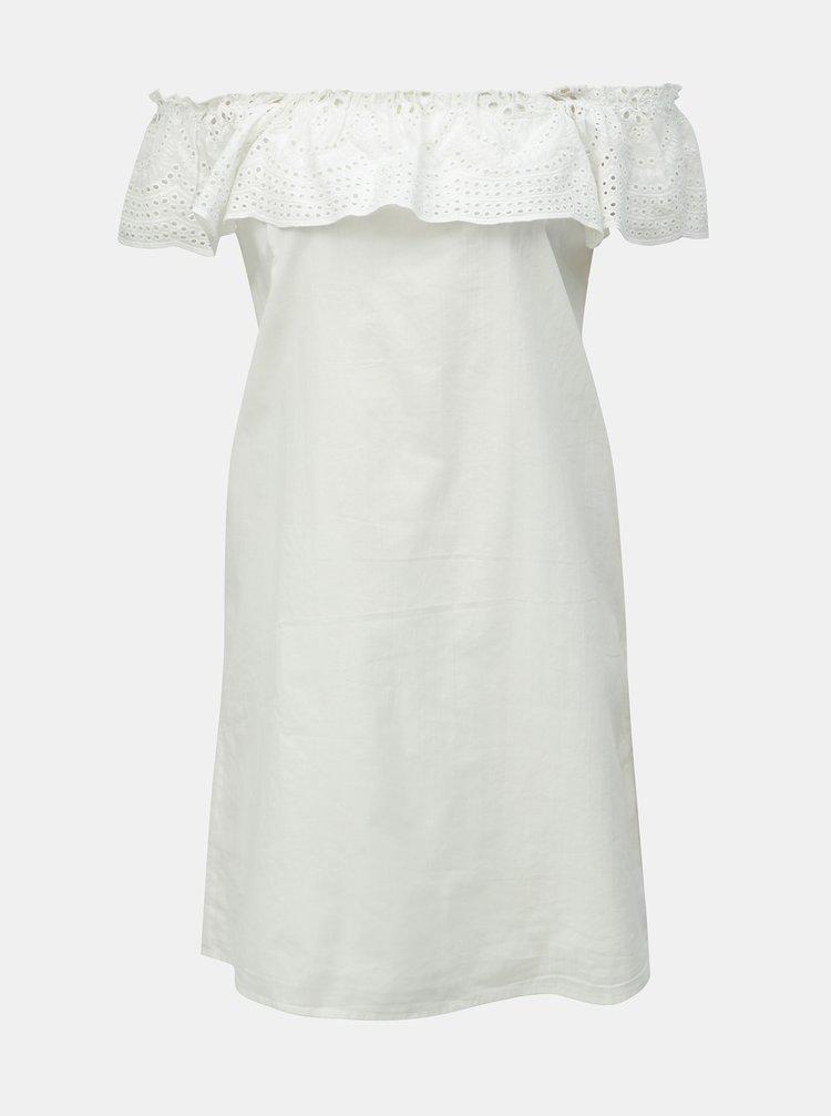 88c1a225c6c4 ... Biele šaty s madeirou a odhalenými ramenami Dorothy Perkins